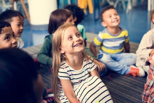 Wertebaum - lachende Kinder