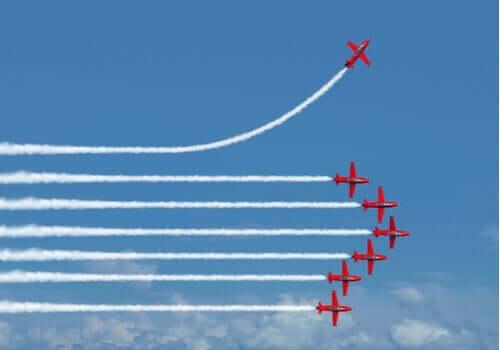 Einstellungseffekt - Flugshow
