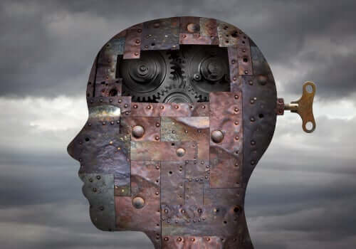 Epilepsie - mechanisches Gehirn