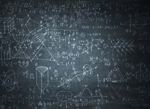 Emmy Noether - Tafel mit Berechnungen