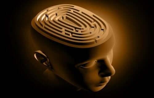 Epilepsie - Gehirn mit Labyrinth