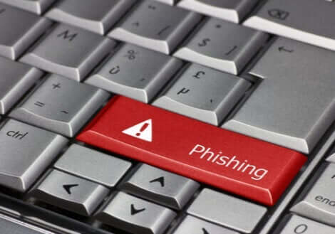 Phishing - Computertastatur mit Phishing-Taste