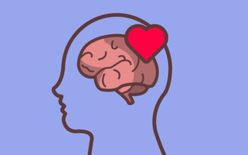 Ausdruck von Emotionen - verliebtes Gehirn