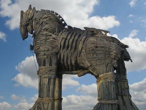 Legende von Odysseus - trojanisches Pferd