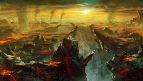 Mythos von Charon - verwüsteter Ort