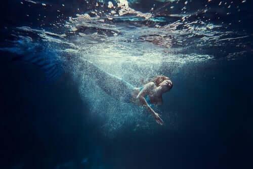 Legende von Odysseus - schwimmende Meerjungfrau