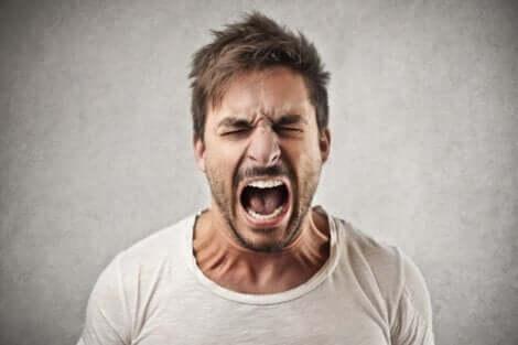 Störungen der Impulskontrolle - schreiender Mann