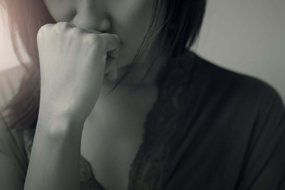 bipolare Störungen - verzweifelte Frau