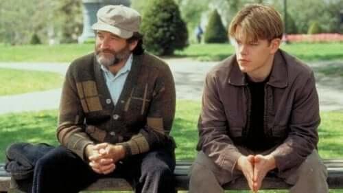 Good Will Hunting - Filmszene mit Robin Williams und Matt Damon