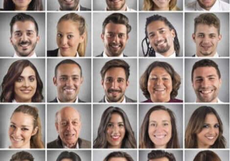 Gesichtslähmung - Fotos verschiedener Menschen