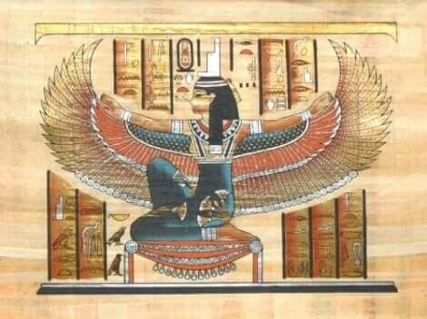Danke, Mama - Papyrus mit Isis