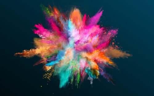Gehirnstimulation - Wolke aus verschiedenen Farben