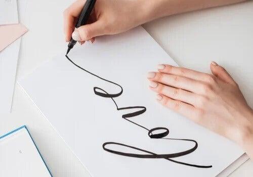 Ein Schriftzug im Handlettering.