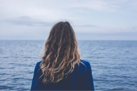 Logotherapie - Frau am Meer