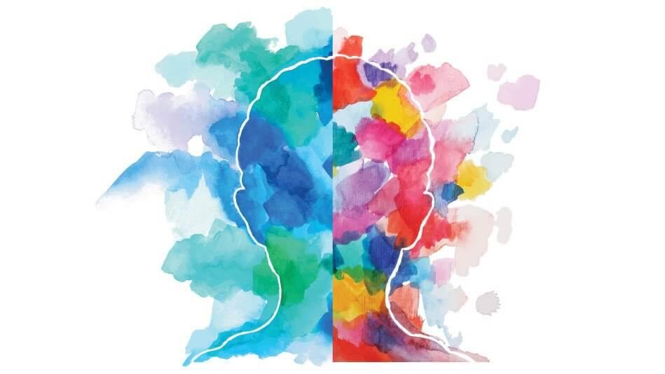 Persönlichkeitstests - farbiger Kopf