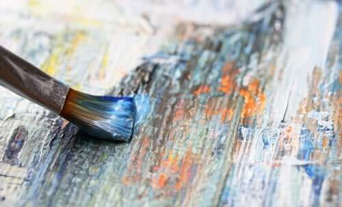 Kunstpsychologie - Pinsel auf Leinwand