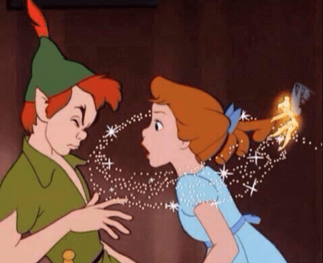 Peter Pan und Wendy streiten
