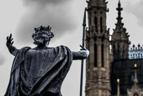 Boudicca - Statue Rückansicht