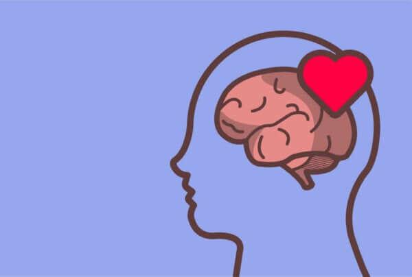 Emotionskontrolle - Bild eines Gehirns mit einem Herzen