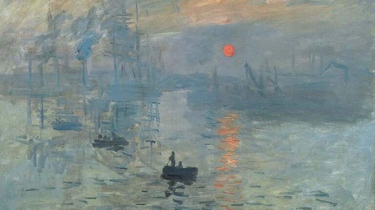 detailorientiert - Gemälde von Monet