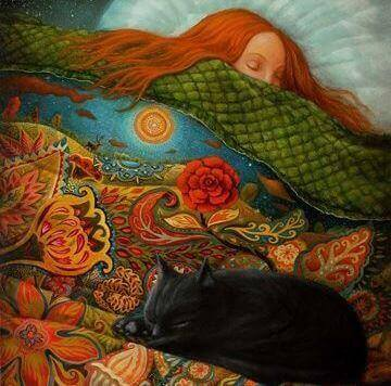 Dankbarkeit ist gut für dich - Bild eines schlafenden Mädchens