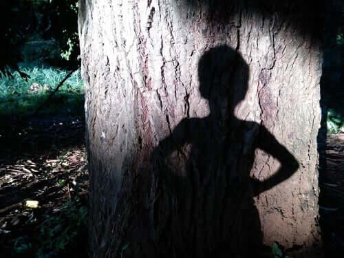 Peter-Pan-Syndrom - Schatten vor einem Baum