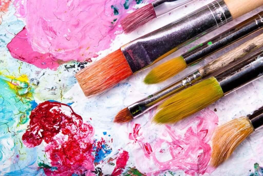 Geist trainieren - Farbe und Pinsel