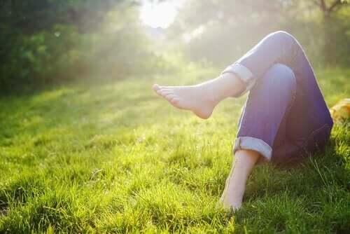 Erholung im Gras