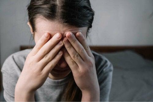 Eine gestresste Frau